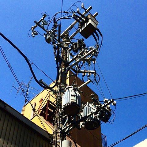 大阪・なんばの電柱#電柱 #電柱が好き #電柱写真