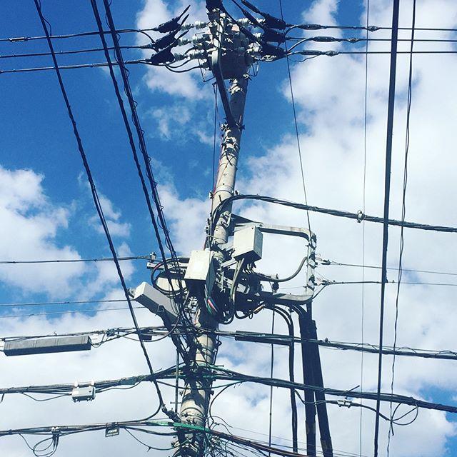 電柱映え天気 #代官山の電柱