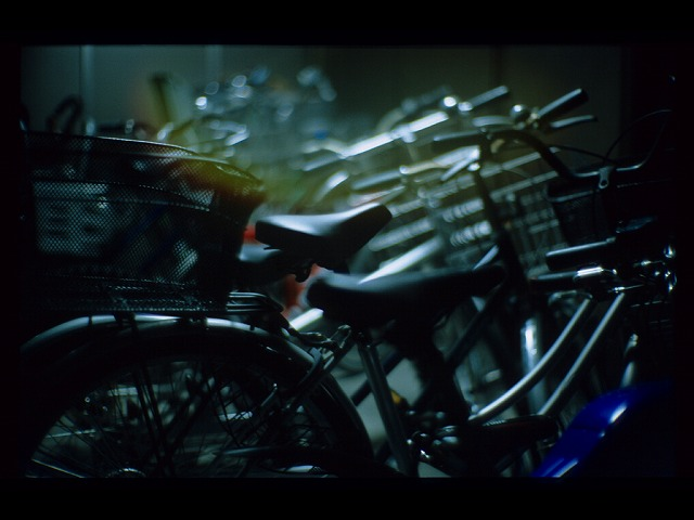 自転車置き場なのに