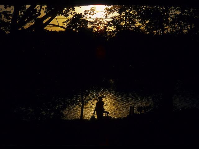夕暮れ平和公園2
